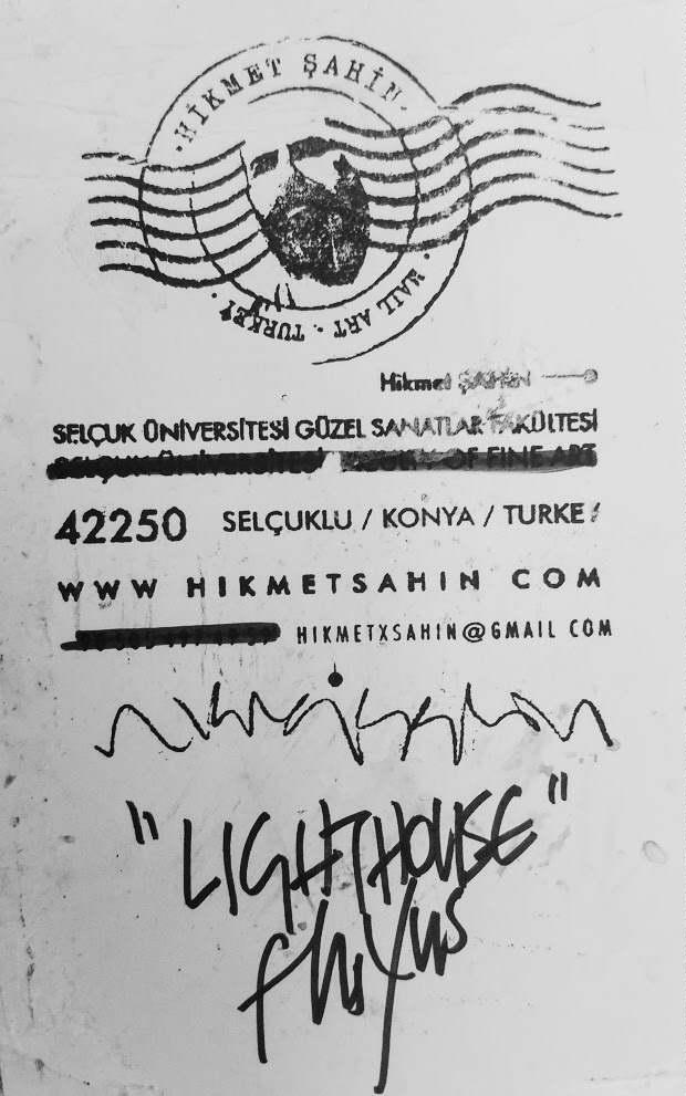 Hikmet Sahin, Lighthouse Fluxus, Ink on Paper (Konya, Turkey)