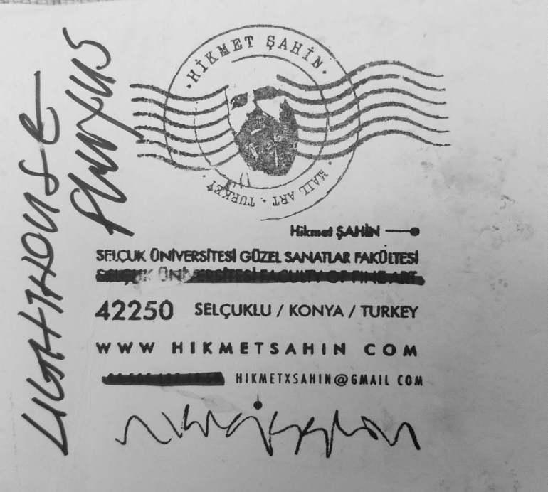 Hikmet Sahin, Lighthouse, Ink on Paper (Konya, Turkey)
