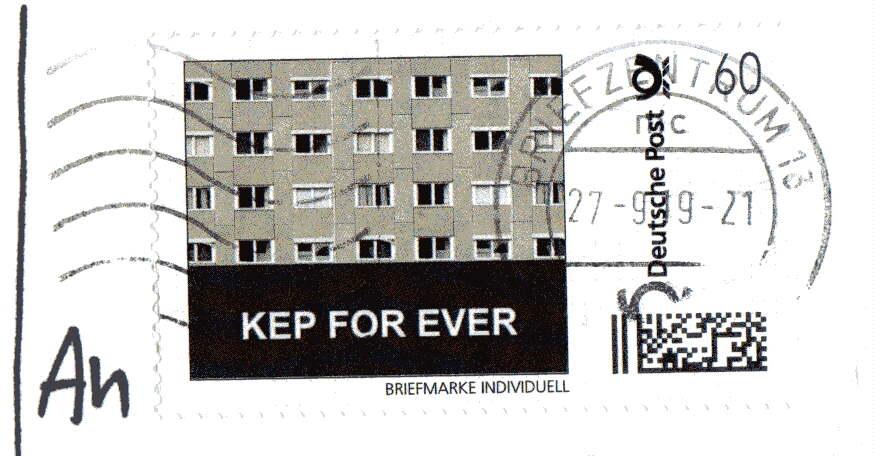Christian Badel, Berlin (Germany) Jubilee stamp for artist house KEP