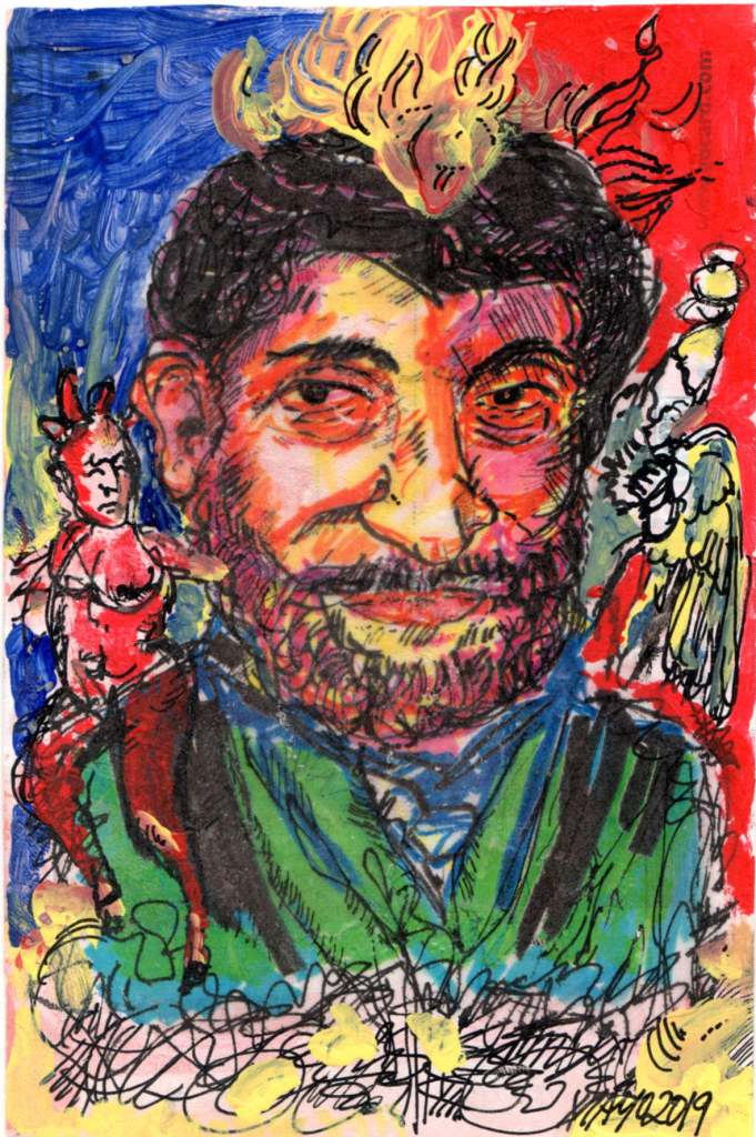 Michelangelo Mayo, 'Last Templation of Heinrich Zille', (San Jose, USA)