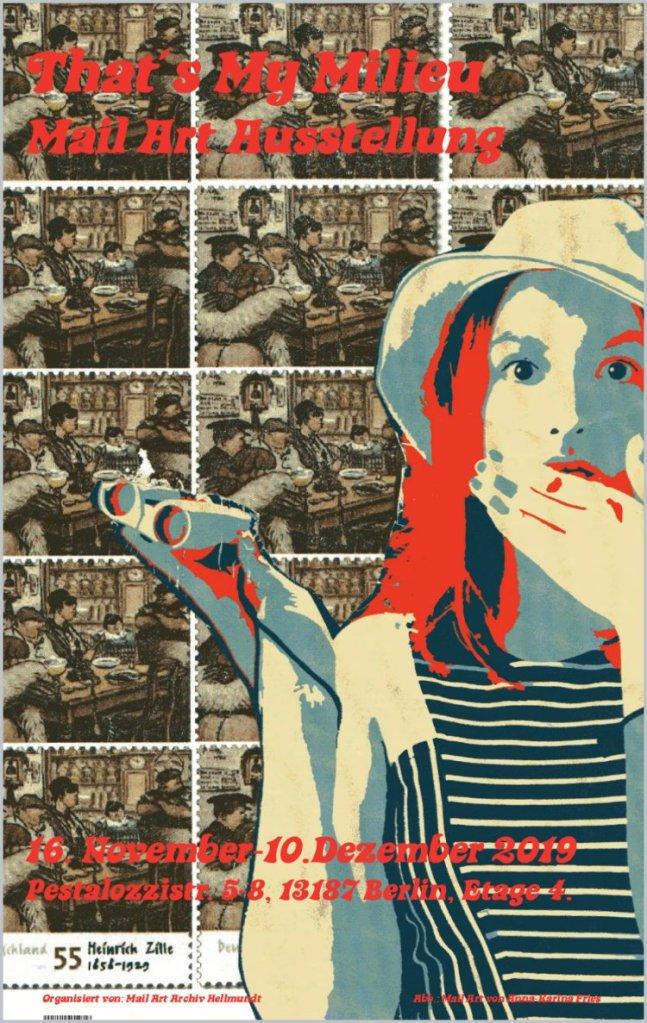 Plakat für die Ausstellung mit dem Beitrag von Anna-Karina Fries