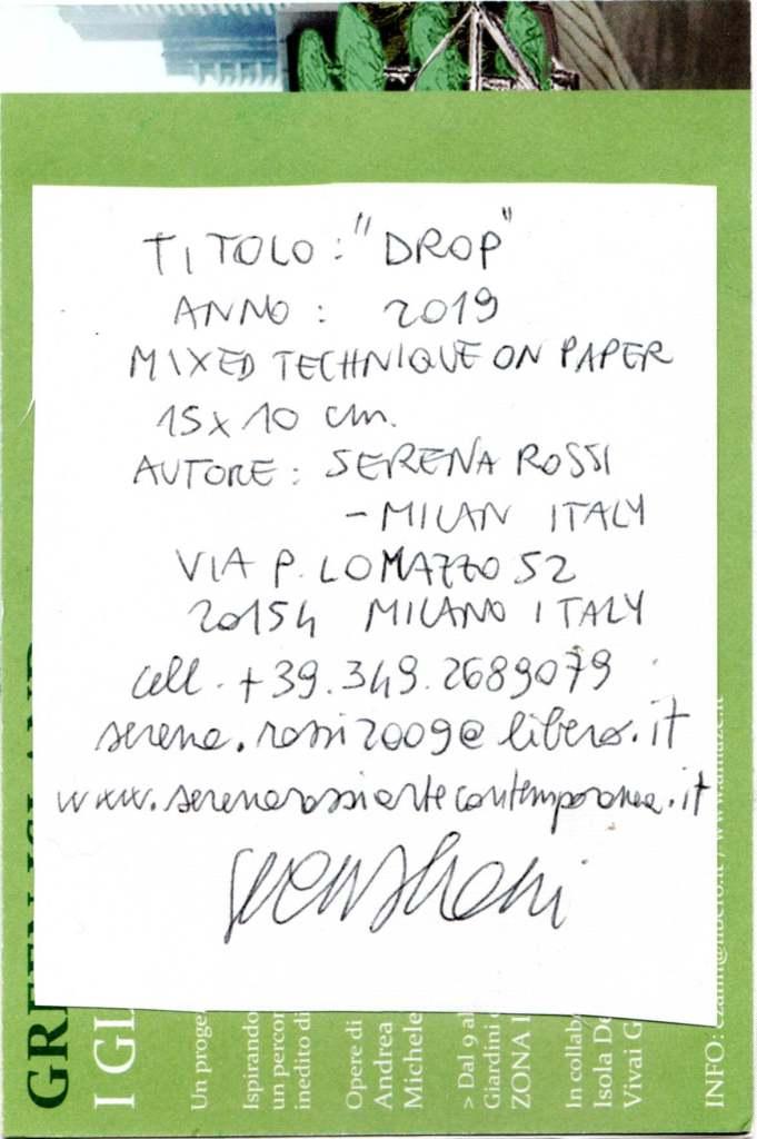 Serena Rossi, 'Drop', Milano (Italy)
