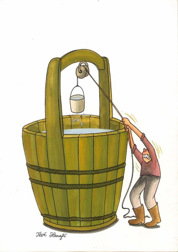 Tevi Hanafi, 'Bucket Water' (Indonesia)