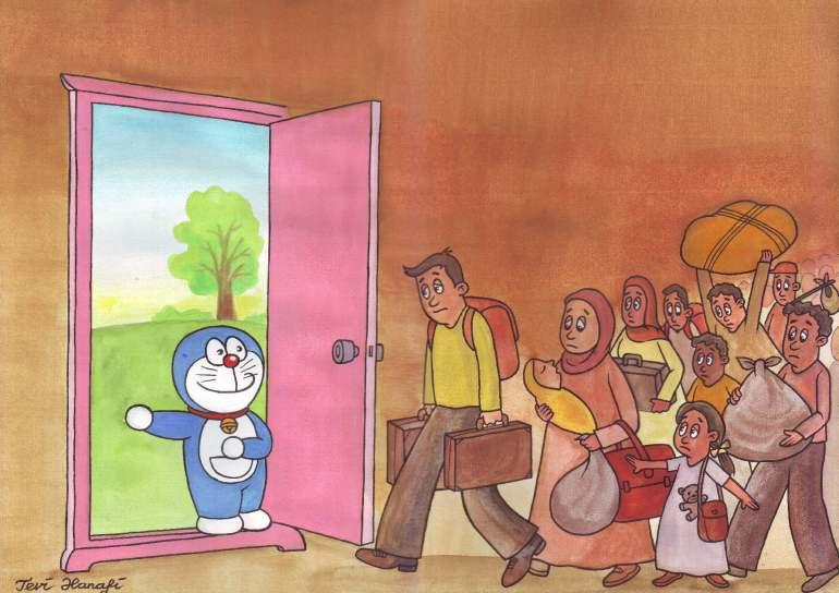 Tevi Hanafi, 'Door Doraemon for Imigrant' (Indonesia)
