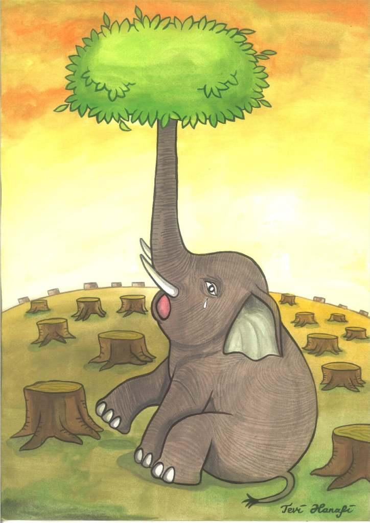 Tevi Hanafi, 'Elephant Tree' (Indonesia)