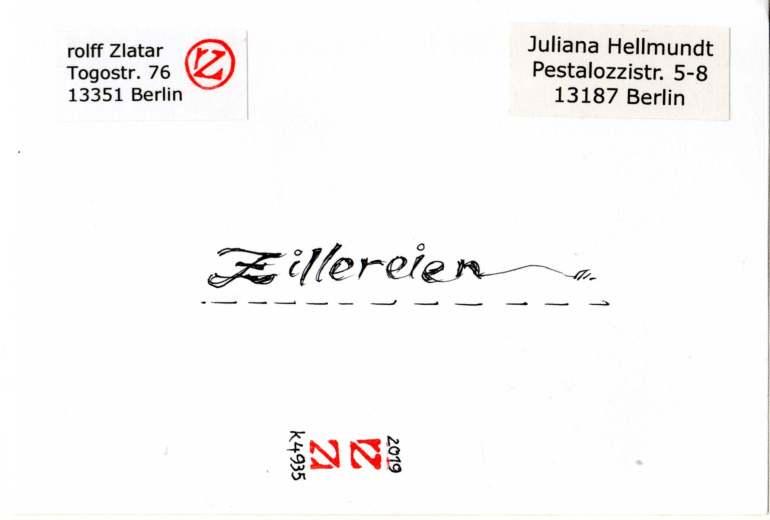 rolff Zlatar, Zillereien (Berlin, Germany)